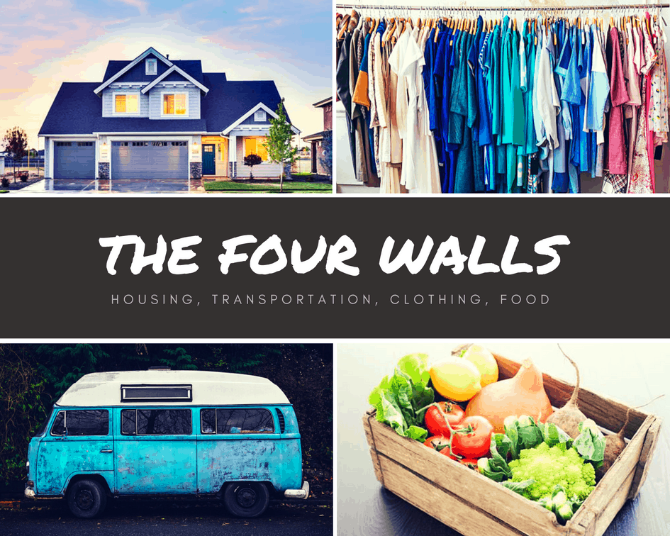 four walls, how to create a budget, get out of debt,