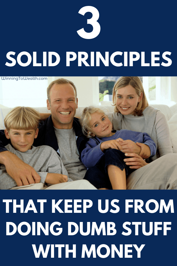 Need to know how to stop spending money on dumb stuff? Sure you can budget and pay off debt, but you also need financial principles to live by as well. Here are our top 3 money rules we live by.